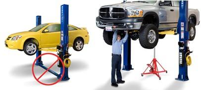 two-post-car-lift-asymmetric-clearfloor-convenience