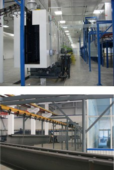 two-post-car-lift-powder-coating-factory